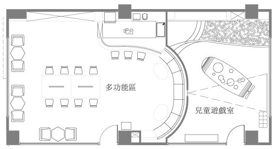 多功能宴客廳平面圖