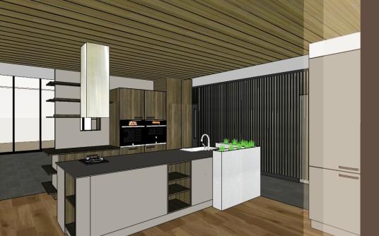 開放廚房、起居室